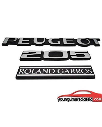 Monogrammes Peugeot 205 Roland Garros