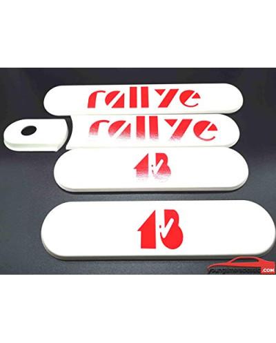 KIT de 5 Custodes Blanches Peugeot 205 Rallye 1.3