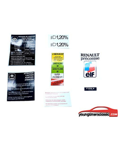 Renault clio williams engine compartment stickers complete kit