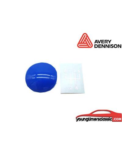Gear knob sticker + Renault Clio Williams stickers