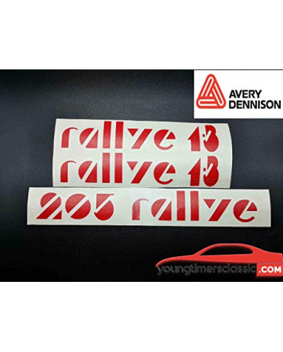 Stickers set for Peugeot 205 Rallye
