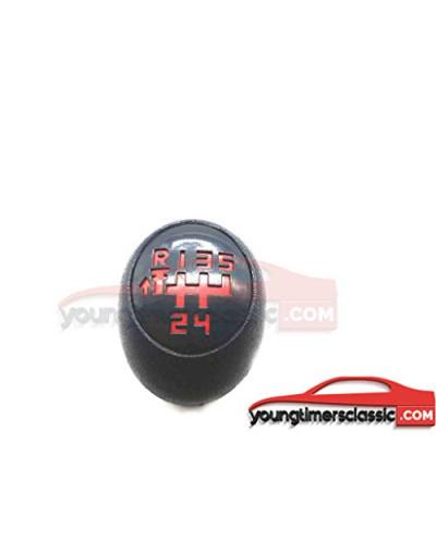 Pommeau de Vitesse 205 GTI Be1 5 Vitesses Grille Rouge