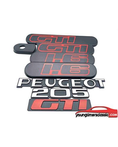 Custodes Peugeot 205 Gti 1.6 black + 3 monograms