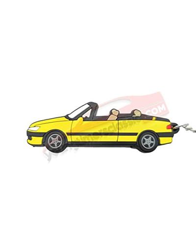 Porte clé Peugeot 306 Cabriolet Jaune