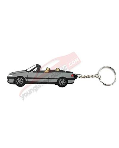 Porte clé Peugeot 306 Cabriolet Gris