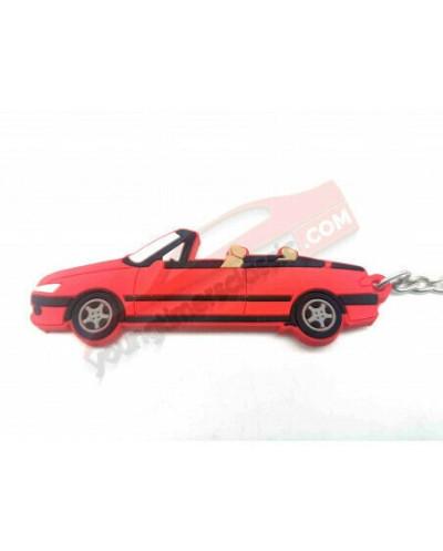Porte clé Peugeot 306 Cabriolet Rouge