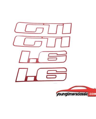 Autocollant de custodes Peugeot 205 GTI 1L6