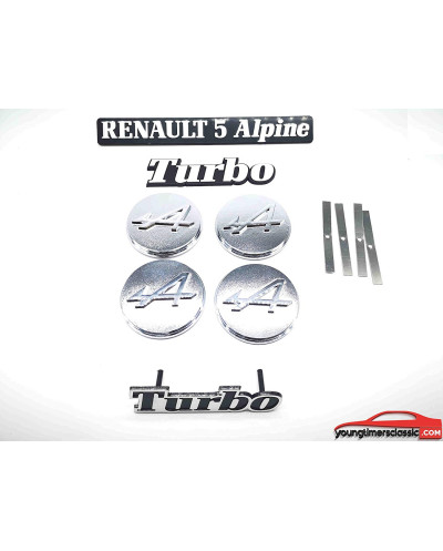 Monogramme R5 Alpine Turbo logo kit complet