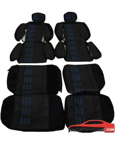 Garniture sièges Renault 5 Gt turbo Alain Oreille complet fanion Bleu