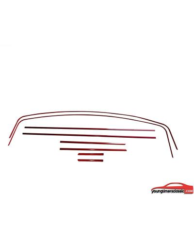 Baguettes rouges liserés Peugeot 205 GTI
