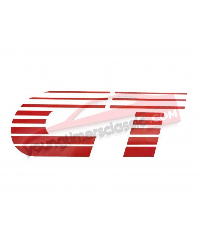 CT stickers for Peugeot 205 CT front wings