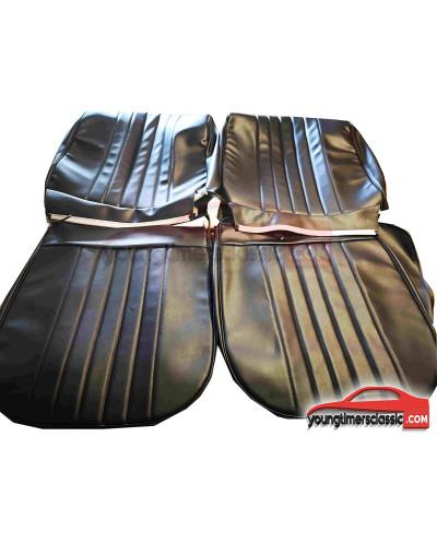 Garniture de sièges pour Renault 8 Gordini Simili Cuir Noir